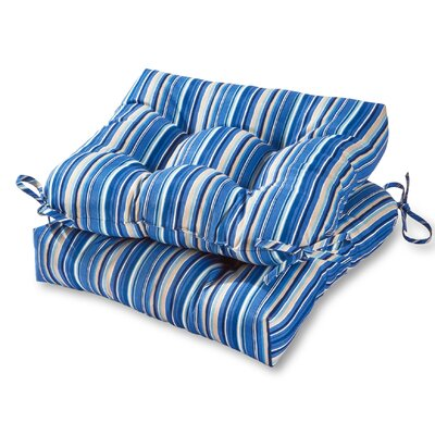 Outdoor Dining Chair Cushion Fabric: Sapphire