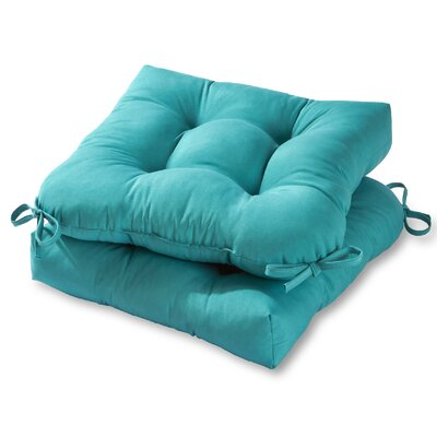Image of Sarver Outdoor Dining Chair Cushion Fabric: Teal