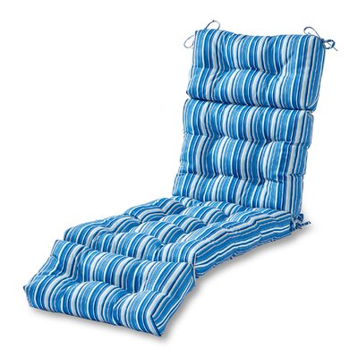 Outdoor Chaise Lounge Cushion Fabric: Sapphire