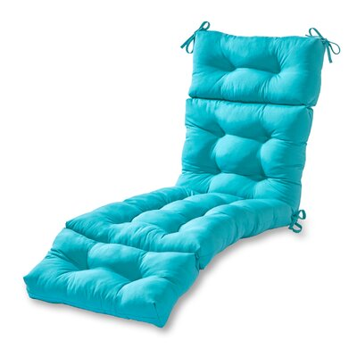 Outdoor Chaise Lounge Cushion Fabric: Teal