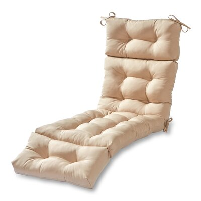 Outdoor Chaise Lounge Cushion Fabric: Stone