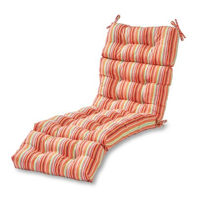 Outdoor Chaise Lounge Cushion Fabric: Watermelon