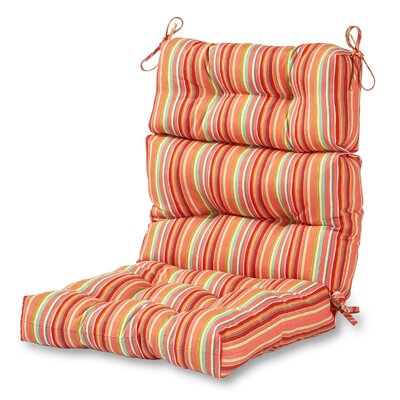 High Back Outdoor Lounge Chair Cushion Fabric: Watermelon