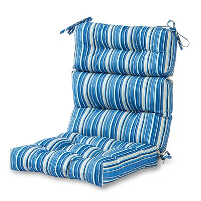 High Back Outdoor Lounge Chair Cushion Fabric: Sapphire