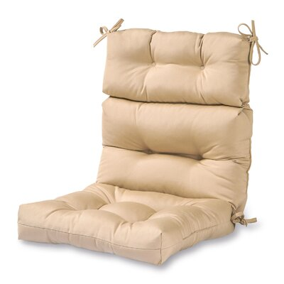 High Back Outdoor Lounge Chair Cushion Fabric: Stone
