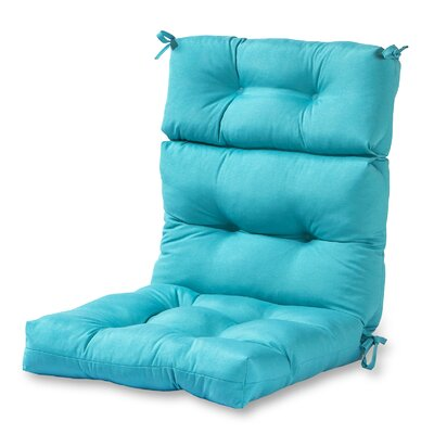High Back Outdoor Lounge Chair Cushion Fabric: Teal