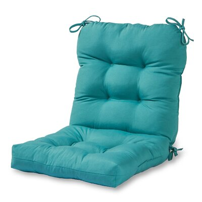 Outdoor Lounge Chair Cushion Fabric: Teal