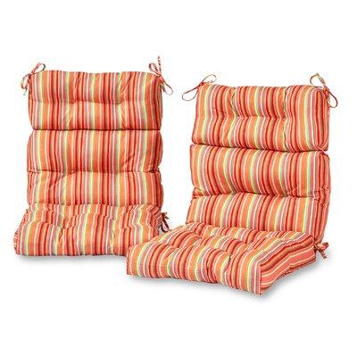 Outdoor Lounge Chair Cushion Fabric: Watermelon