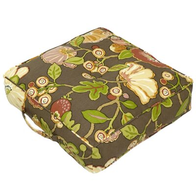 Greendale Home Fashions Outdoor / Indoor Square Floor Pillow - Color: Hip Floral - Chocolate at Sears.com