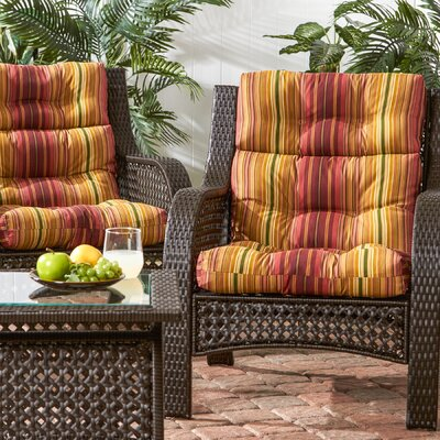 High Back Outdoor Lounge Chair Cushion Set