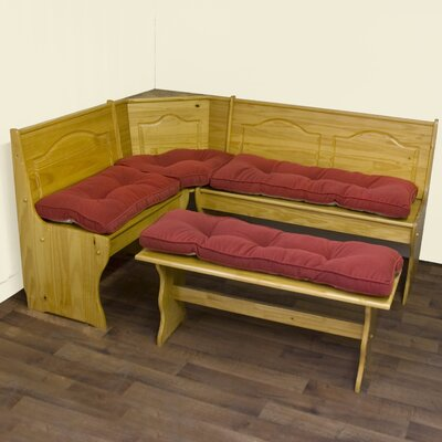 Nook Hyatt Cushion Set Color: Scarlet (4 Piece)