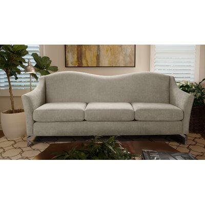 Alrai Camel back Sofa Upholstery: Silver Gray