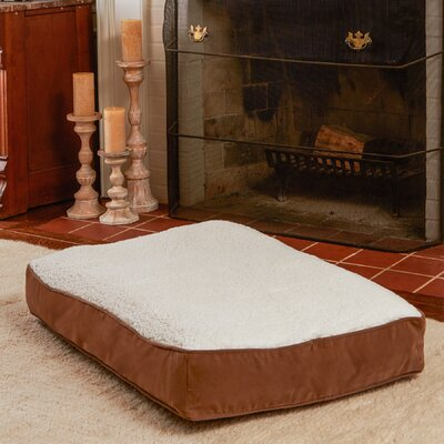 Buster Dog Bed Size: Large (48 L x 36 W), Color: Latte / Sherpa