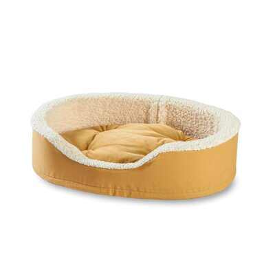 Oliver Foam Bolster Dog Bed Size: Small (23 L x 18 W), Color: Toast