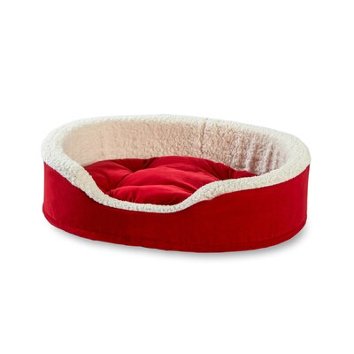 Oliver Foam Bolster Dog Bed Size: Extra Small (19 L x 14 W), Color: Red