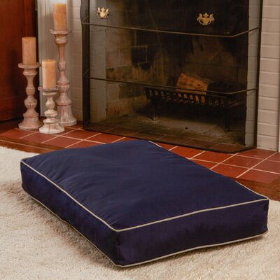 Charmaine Rectangle Indoor/Outdoor Dog Pad Size: Medium (30 W x 42 D), Color: Navy