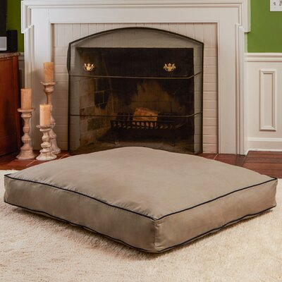 Charmaine Rectangle Indoor/Outdoor Dog Pad Size: Large (36 W x 48D ), Color: Gray Stone