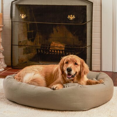 Max Rectangle Indoor/Outdoor Bumper Dog Bolster Size: Medium/Large, Color: Gray Stone