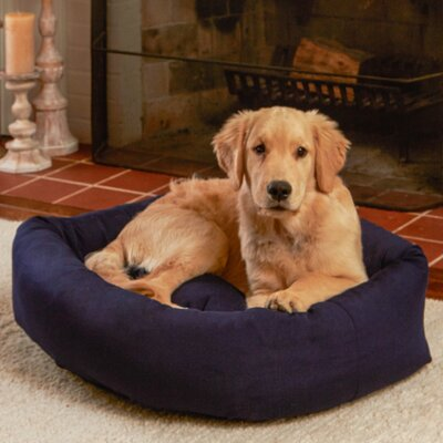 Max Rectangle Indoor/Outdoor Bumper Dog Bolster Size: Medium/Large, Color: Navy