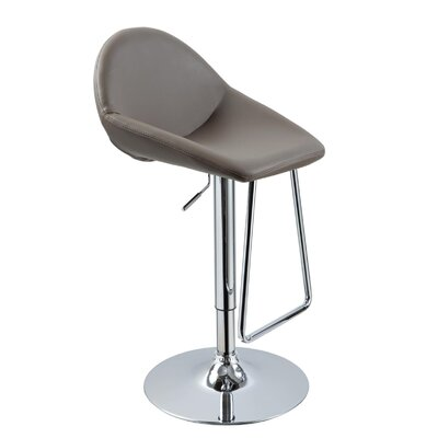 Camron Adjustable Height Metal Framed Swivel Bar Stool Upholstery Color: Cappuccino