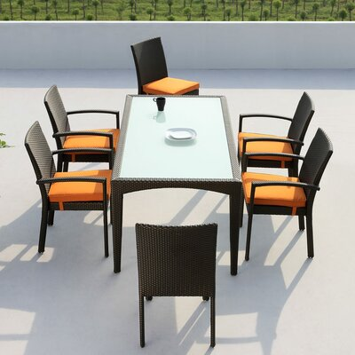 Agora Mississippi 7 Piece Dining Set with Cushions