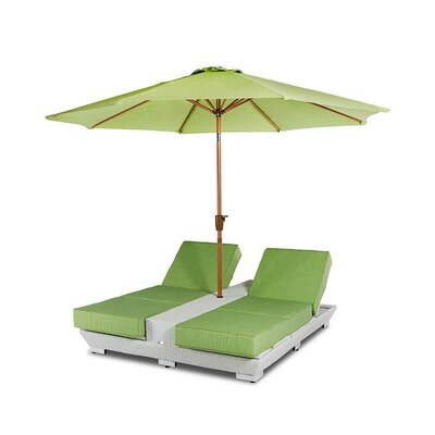 Renava Gemini Double Chaise Lounge with Cushions