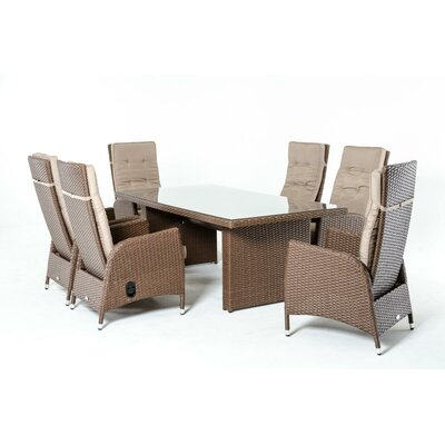 Renava Toledo 7 Piece Dining Set with Cushions