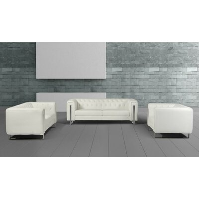 VIG Furniture VGMB1406 Divani Casa Salvia Modern Leatherette Living Room Set