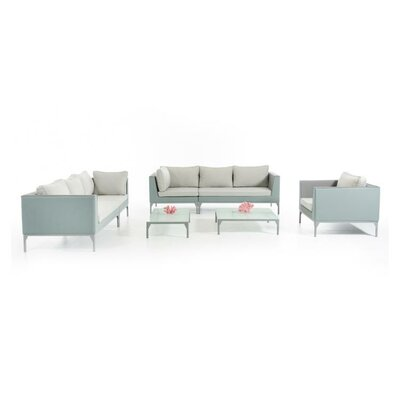 Ridgefield 5 Piece Upholstered Lounge Seating Group