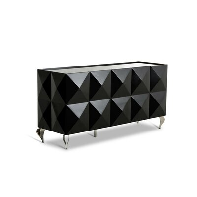 Versus Eva 3 Door Sideboard Color: Black