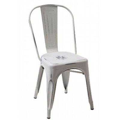Modrest Modern Metal Side Chair Color: Vintage White