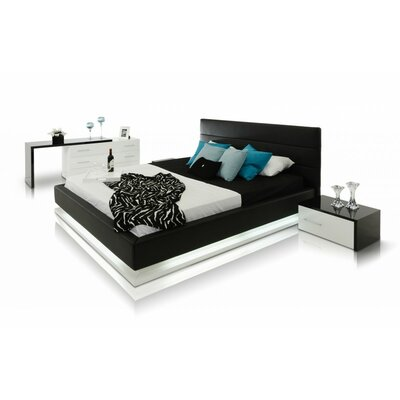 Infinity Upholstered Platform Bed Size: California King, Finish: Black