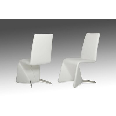 Clower Contemporary Leather Upholstered Dining Chair Upholstery: White