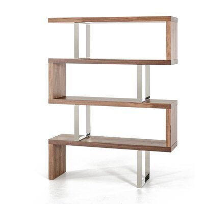 Modrest Maze 67 Bookcase Finish: Walnut Product Photo 74