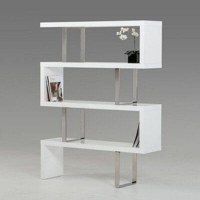 Modrest Maze 67 Bookcase Finish: White High Gloss Product Photo 74