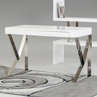 Modrest Ferris Writing Desk Finish: White Lacquer Product Photo 71