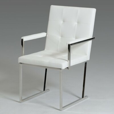 Clower Modern Solid Back Arm Chair