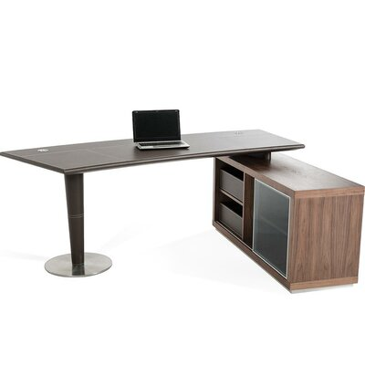 Modrest Lincoln Computer Desk with Side Storage Cabinet Product Picture 1163
