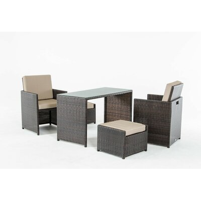 Renava Balcony 5 Piece Dining Set with Cushions