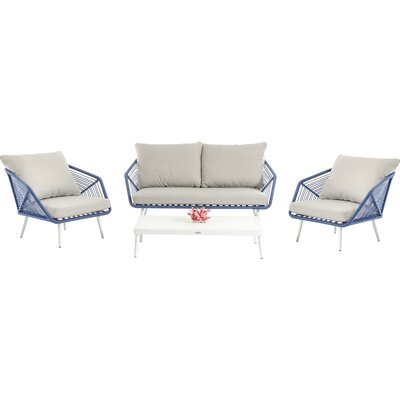 Brody 4 Piece Deep Seating Group with Cushions
