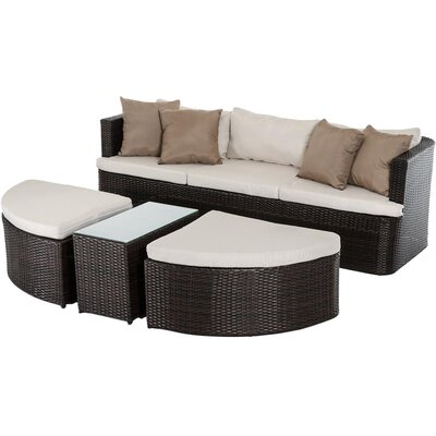 Renava Toronto Outdoor 11 Piece Deep Seating Group with Cushion