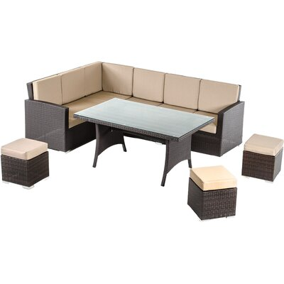 Renava Kingston 5 Piece Dining Set with Cushions
