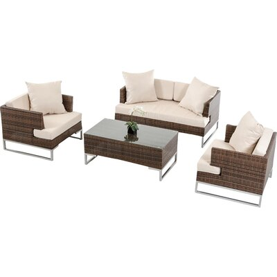 Renava 4 Piece Modena Deep Seating Group with Cushion