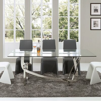 Clower Steel Base Dining Table