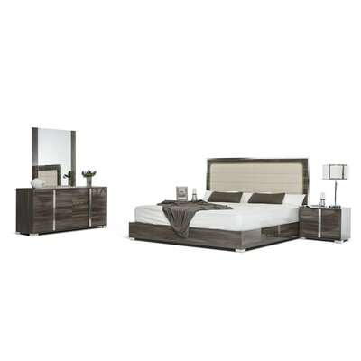 Modern Platform 5 Piece Bedroom Set Size: Queen