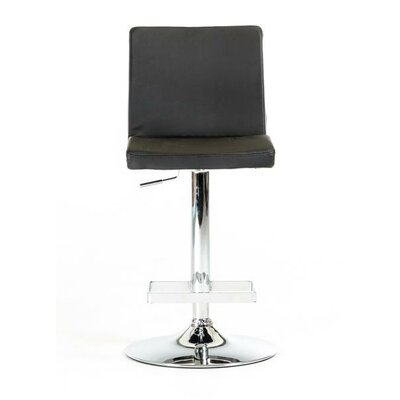 Clower Contemporary Full Back Adjustable Height Swivel Bar Stool