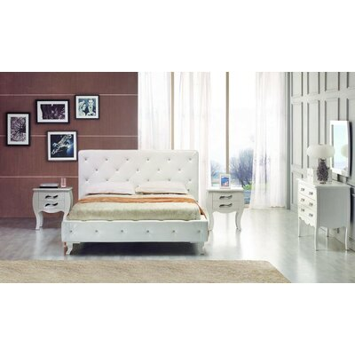 Owen Leatherette Twin Upholstered Panel Bed