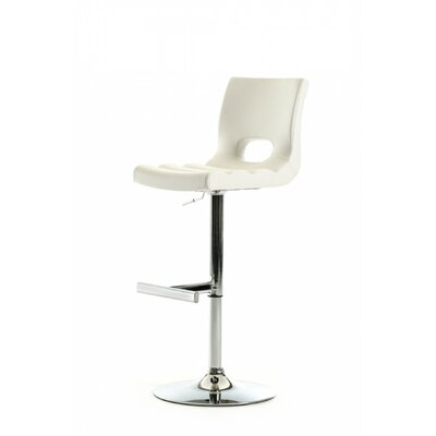 Gulfport Adjustable Height Swivel Bar Stool Color: White
