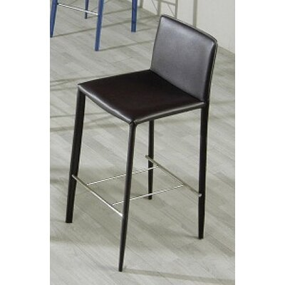 Clower Modern Bar Stool Color: Black