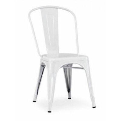 Modrest Modern Metal Side Chair Color: White